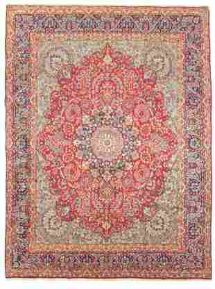 "Hand-knotted Kerman Wool Rug 9'7"" x 13'0"""