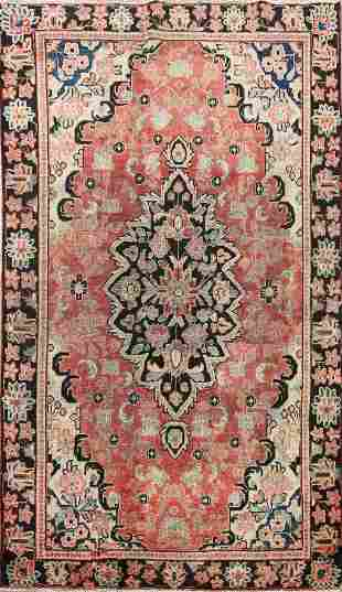 Antique Floral Mahal Persian Area Rug 4x6