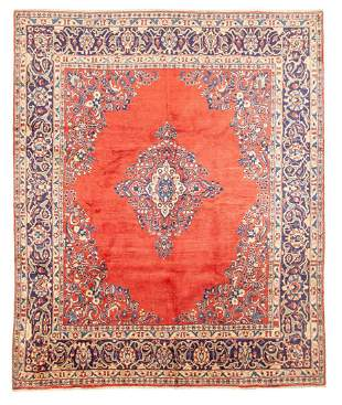 "Hand-knotted Mahal Wool Rug 8'0"" x 9'11"""