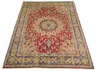 "Hand-knotted Kerman Wool Rug 9'7"" x 12'9"""