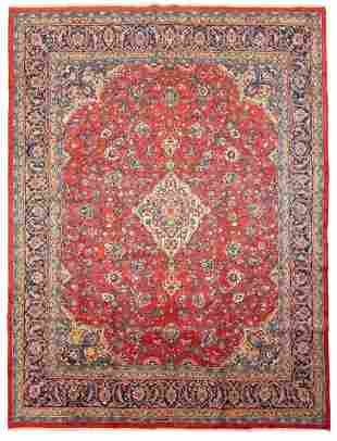 "Hand-knotted Mahal Wool Rug 9'11"" x 13'1"""