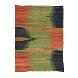 Hand-Woven Colorful Durie Kilim Flat Weave Pure Wool