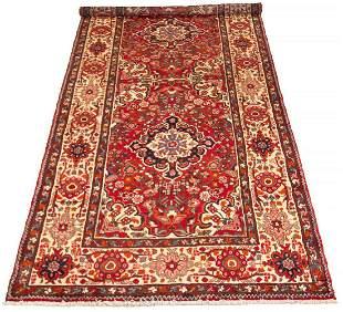 "Hand-knotted Hamadan Wool Rug 5'1"" x 11'9"""