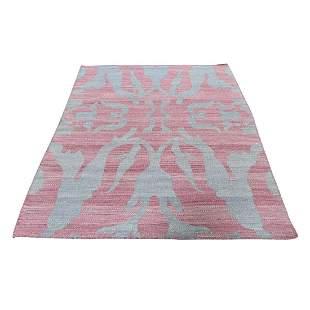 Pure Wool Reversible Kilim Flat Weave Hand-Woven