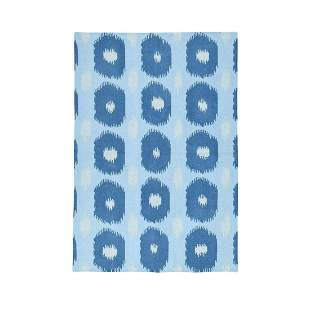 Geometric Design Hand-Woven Reversible Kilim Flat Weave