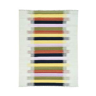 Hand-Woven Pure Wool Flat Weave Colorful Dazzling Kilim