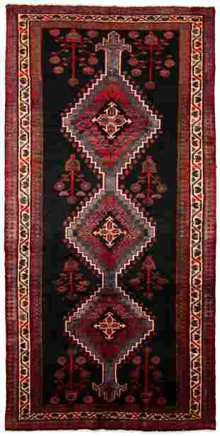 "Hand-knotted Roodbar Wool Rug 5'1"" x 10'0"""