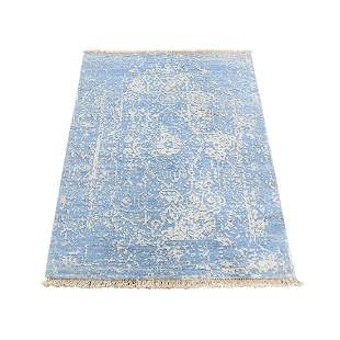 Broken Persian Design Wool And Pure Silk Hand-Knotted