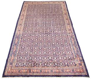 "Hand-knotted Mhal Wool Rug 5'5"" x 10'2"""