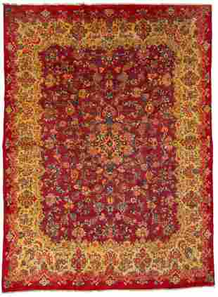 "Hand-knotted Mahal Wool Rug 10'6"" x 14'5"""