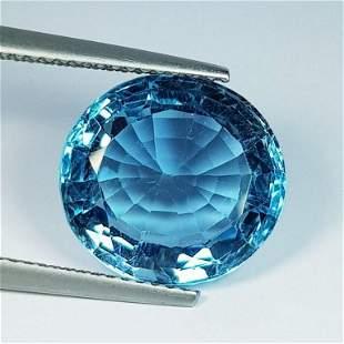 Natural Blue Topaz Oval Cut 9.89 ct