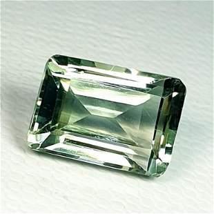 Natural Green Amethyst Emerald Cut 4.38 ct