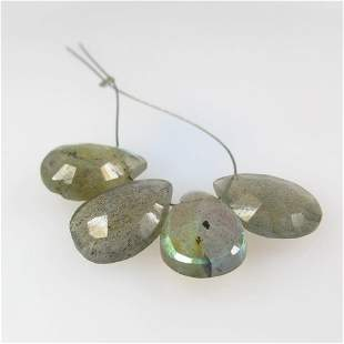14.86 Ct Natural Drilled Labradorite Pear Beads