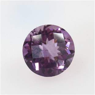 6.76 Ct Natural Purple Amethyst Round Cut