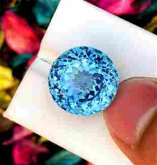 Topaz Gemstone , Natural Blue Topaz , Swiss Topaz