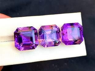 Natural Fancy Cut Purple Amethyst Gemstones Parcel -