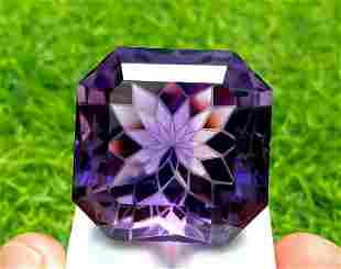 Amethyst, 138.85 Carats Natural Top Color Fancy Flower