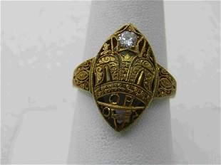 18kt Victorian/Edwardian .25 CTW Diamond Ring,