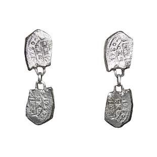 Hattie Carnegie Spanish Armada Dangle Coin Earrings