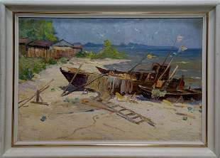 Oil painting Broken trough Yarovoy Stepan Kalinovich