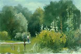 Oil painting Stroll Serdyuk Boris Petrovich