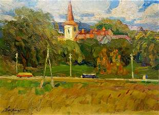 Oil painting By the evening Stremsky Alexander