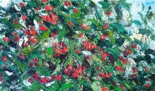 Oil painting Cherry time Alexander Nikolaevich