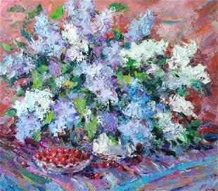 Oil painting Spring still life Alexander Nikolaevich