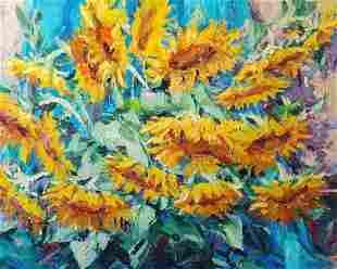 Oil painting Sunflowers Alexander Nikolaevich