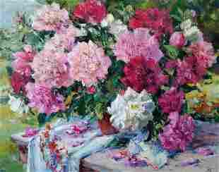 Oil painting Peony Alexander Nikolaevich Cherednichenko