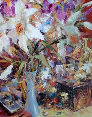 Oil painting Grumer table Alexander Nikolaevich