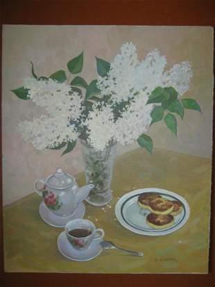 Oil painting Still life Kalebets  Valery
