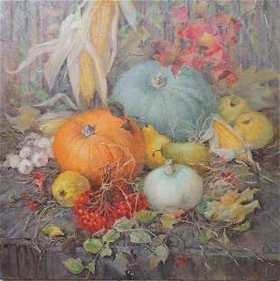 Oil painting Colorful holiday Procach Olesia
