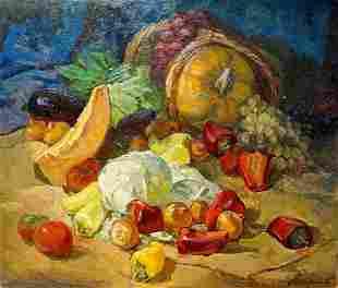 Oil painting Vegetable still life Stremsky Alexander
