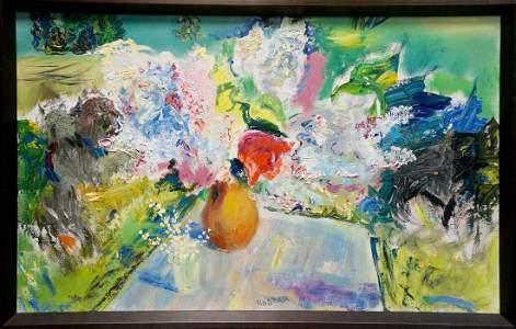 Abstract oil painting Still life Natalia Naida