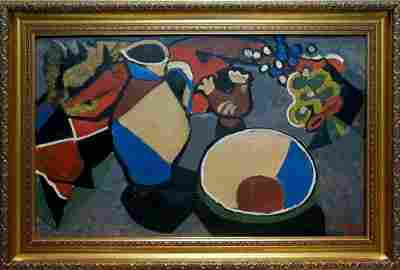 Abstract oil painting Still life Levitskaya Henrietta