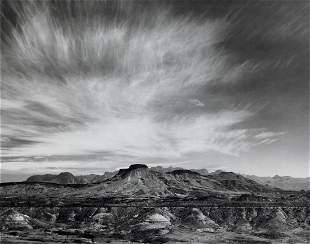 ANSEL ADAMS - Burro Mesa, Chisos Mountains, Big Bend