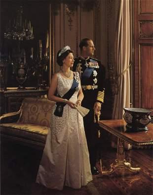 YOUSUF KARSH - Queen Elizabeth II & Prince Philip