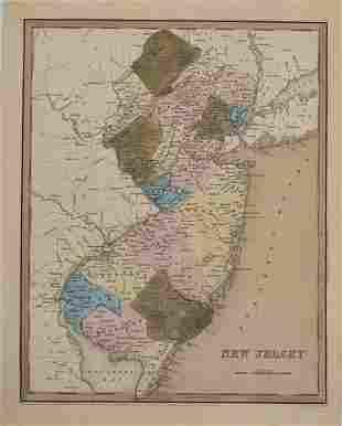 1837 Bradford & Goodrich Map of New Jersey -- New