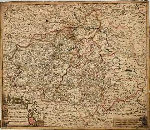1690 de Wit Map of Saxony Germany -- Circuli Saxoniae