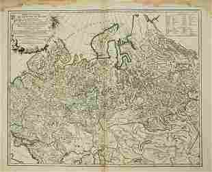 1750 Robert de Vaugondy Map of Majority of Russian