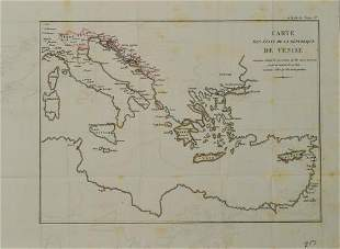 1810 c. Didot Map of Central-Eastern Mediterranean Sea