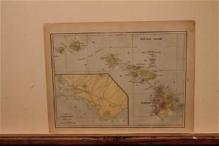 1890 Map of Hawaii