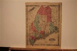 1856 Map of Maine