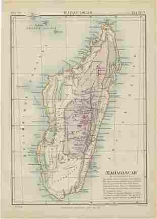 1880 Johston/Encyclopeadia Britannica Map of Madagascar
