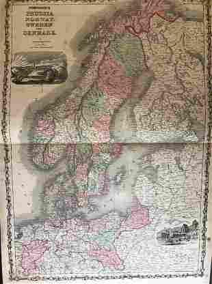 1861 Sweden, Norway, Denmark and Prussia. By Johnson