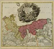 1716 Homann Map of Baltic Coast of Germany and Poland--