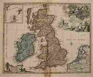1792 Elwe Map of Great Britain and Eire -- Les Isles