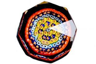 "1950 Murano glass Paperweight "" Sfaccettato """