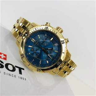 TISSOT PRS 200 Men's Gold Plated Chronograph Watch